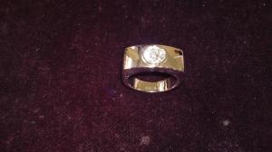 Anello con Diamante in Oro Bianco