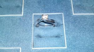 Solitario con diamante in Oro bianco